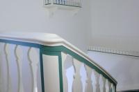 Treppenhaus grün weiss